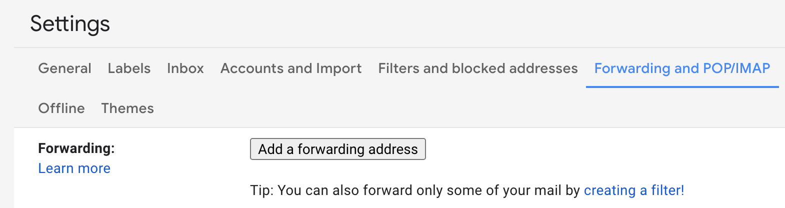 Click the settings icon, top right of screen in Gmail to get started